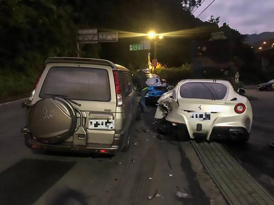 Delivery driver, 20, crashes into four Ferraris after ?falling asleep at wheel? landing him with ?520,000 bill (Photos)