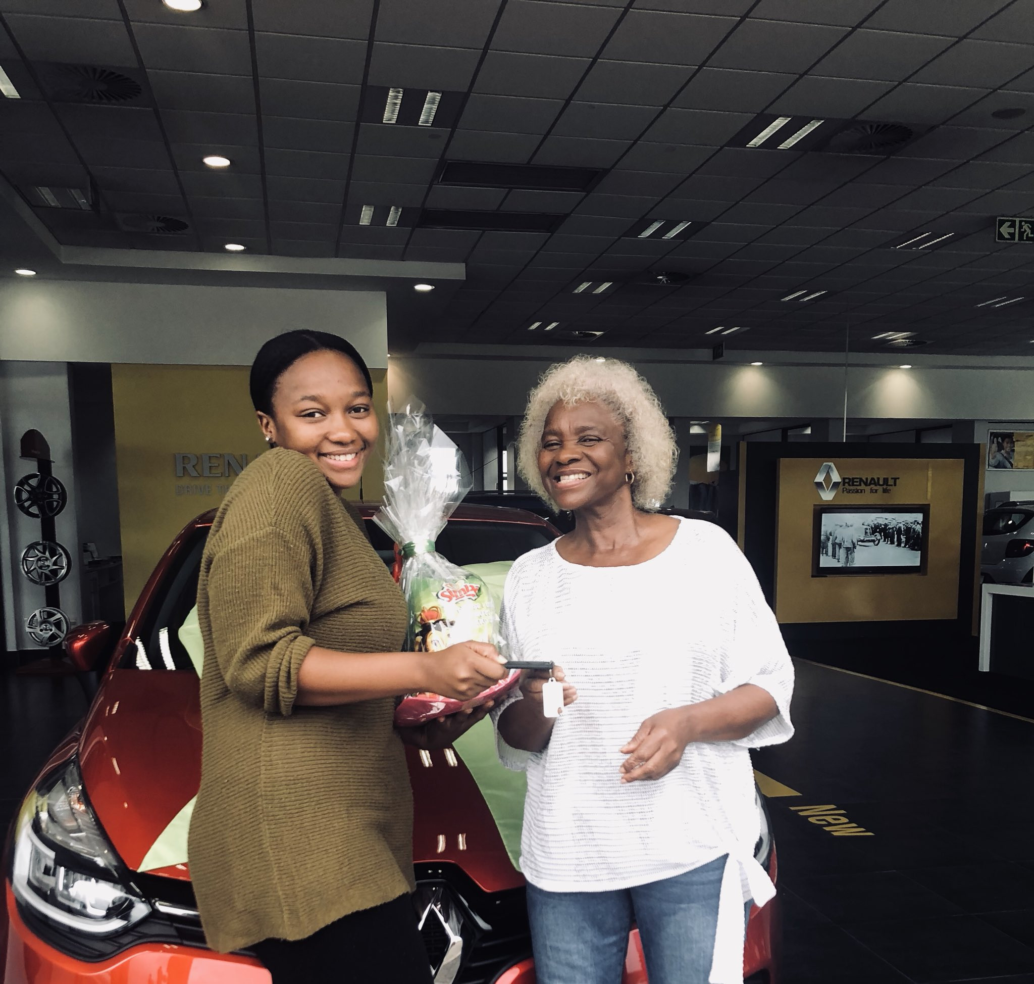 South African lady in high heavens after her mum surprised her with a car for being a good daughter