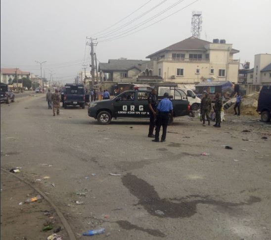 Photos: Heavy Police presence at the scene of a clash between occupants of different shanties in Lekki