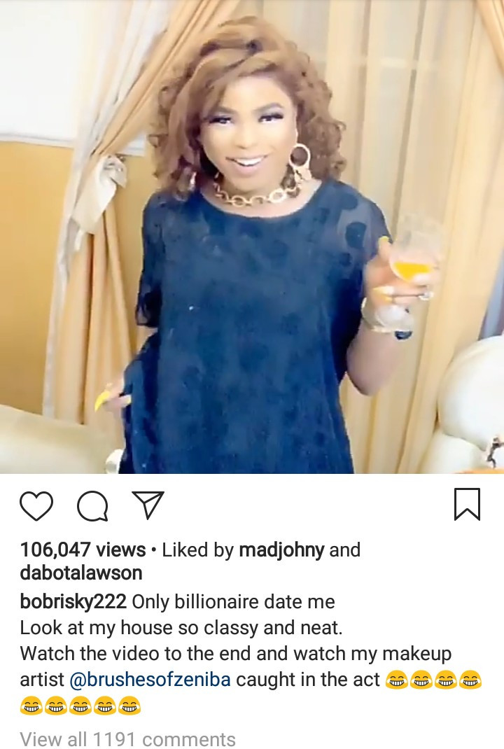 """Only billionaires date me"" Bobrisky makes it clear"