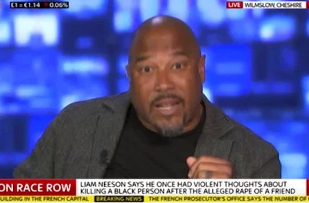 John Barnes defends Liam Neeson after he was criticized for saying he was so angry he wanted to kill any black man after his friend was raped by a black man