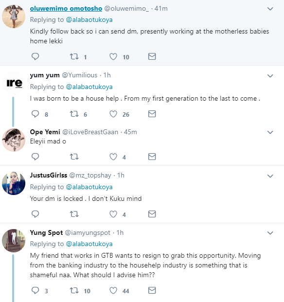 See hilarious reactions to a job advert that promises to pay ?250K for a househelp in a home in Banana Island