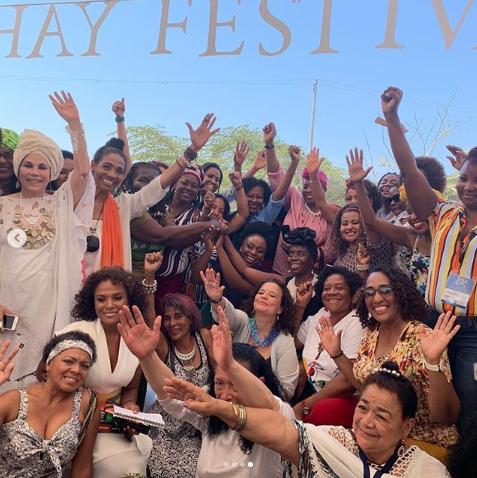 """I named my granddaughter Chimamanda"" Spanish fan tells Chimamanda  Ngozi Adichie in Colombia (photos/video)"