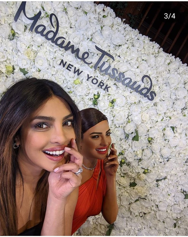 Priyanka Chopra meets her new wax figure at Madame Tussauds in New York