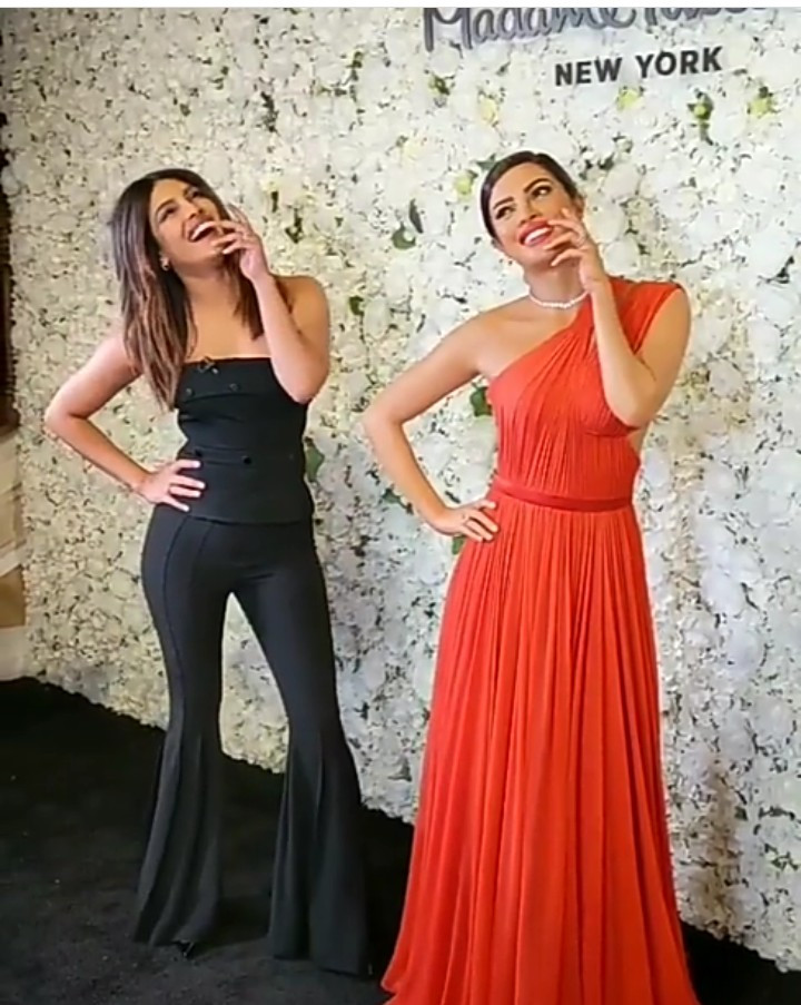 Priyanka Chopra meets her new wax figure at Madame Tussauds in New York