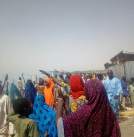 Children burnt to death as fire guts IDP camp in Borno state (photos)