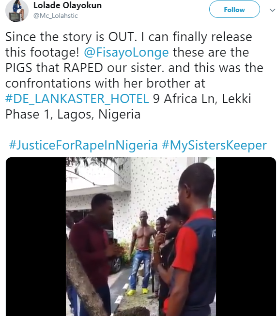 Moment men who drugged, raped, and filmed woman, 23, in Lekki hotel were confronted by the victim