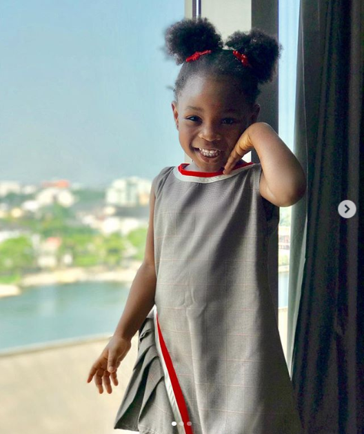 Beautiful photos of Sophia Momodu and her daughter Imade Adeleke twinning in matching outfits