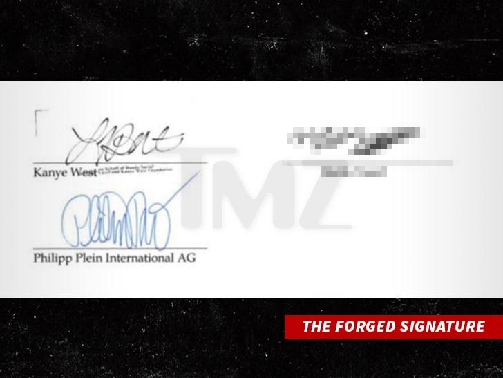 Kanye West signature forged in $900k Philipp Plein Scam?(Photo)