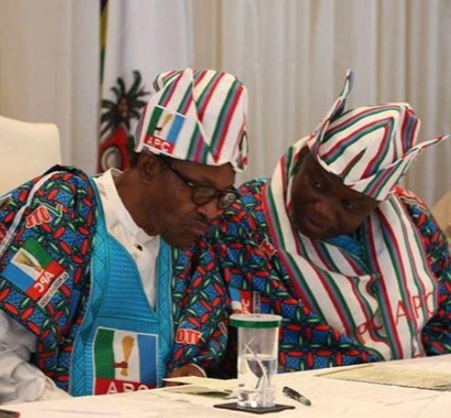 Caption This Photo Of President Buhari And Governor Ambode