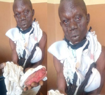Photo: Man apprehended with female pants says a prophet sent him to steal them