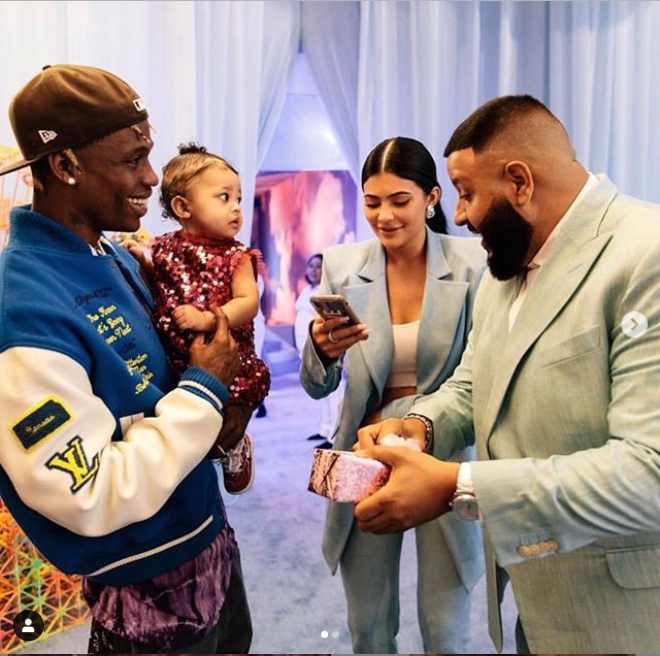 DJ Khaled gifts Travis Scott and Kylie Jenner