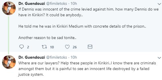 Man shares the heartfelt conversation he had with a Kirikiri prison inmate who was recently released