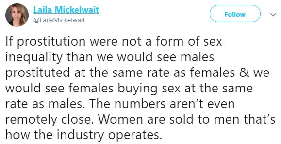 Prostitution is paid rape- US feminist, Laila Mickelwait says