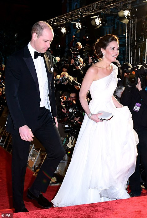 Kate Middleton steals the show in an Alexander McQueen monostrap gown at the BAFTAS 2019