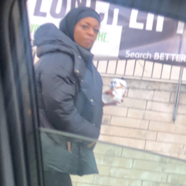 "Nigerian man in UK shares a photo of ""Diezani"" walking on the streets on London (photos)"