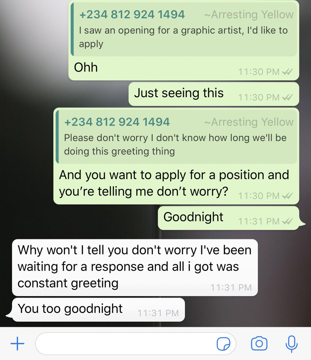 Hilarious conversation between an employer and an applicant