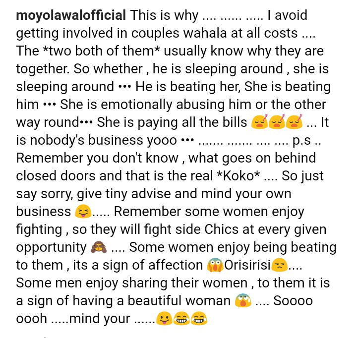 Moyo Lawal reacts to Cardi B and Offset