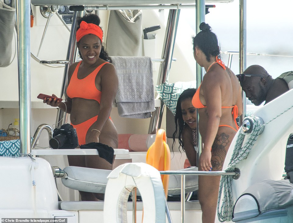 Angela Simmons shows off her bikini body as she continues her vacation in Barbados (Photos)
