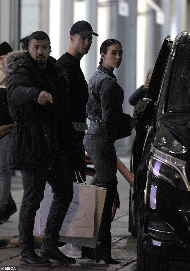 Cristiano Ronaldo takes his partner Georgina Rodriguez on expensive shopping spree in Turin (Photos)
