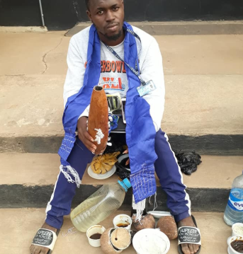 Photos: 14 suspected undergraduate internet fraudsters in EFCC net, fetish items recovered from them
