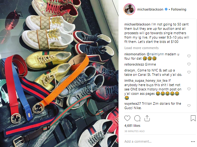 Comedian Michael Blackson puts all his Gucci belongings up for sale