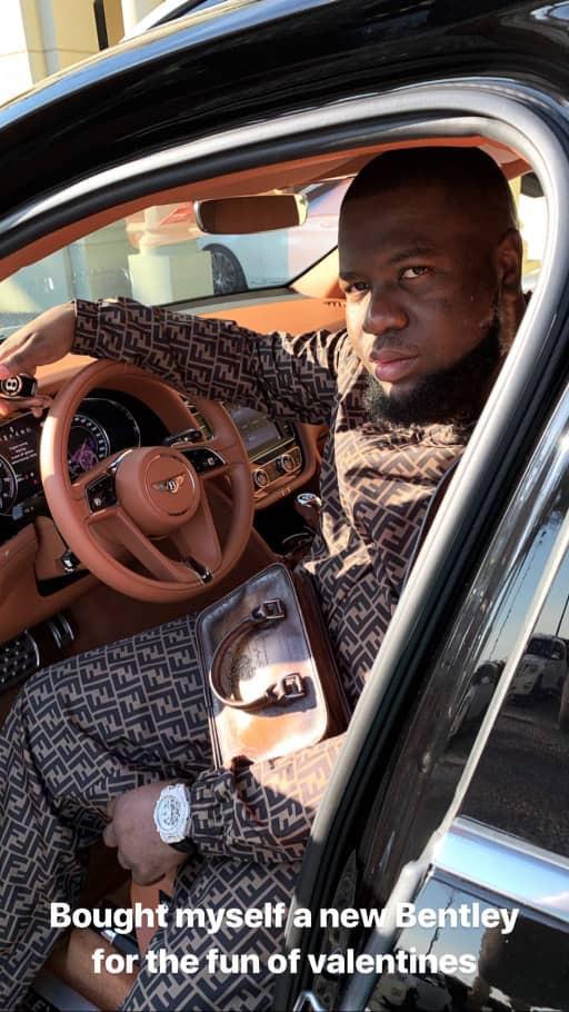 Hushpuppi buys himself a N74M Bentley Bentayga for Valentine
