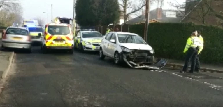 Two children among the 6 people injured when car hit a group of pedestrians outside primary school in the UK