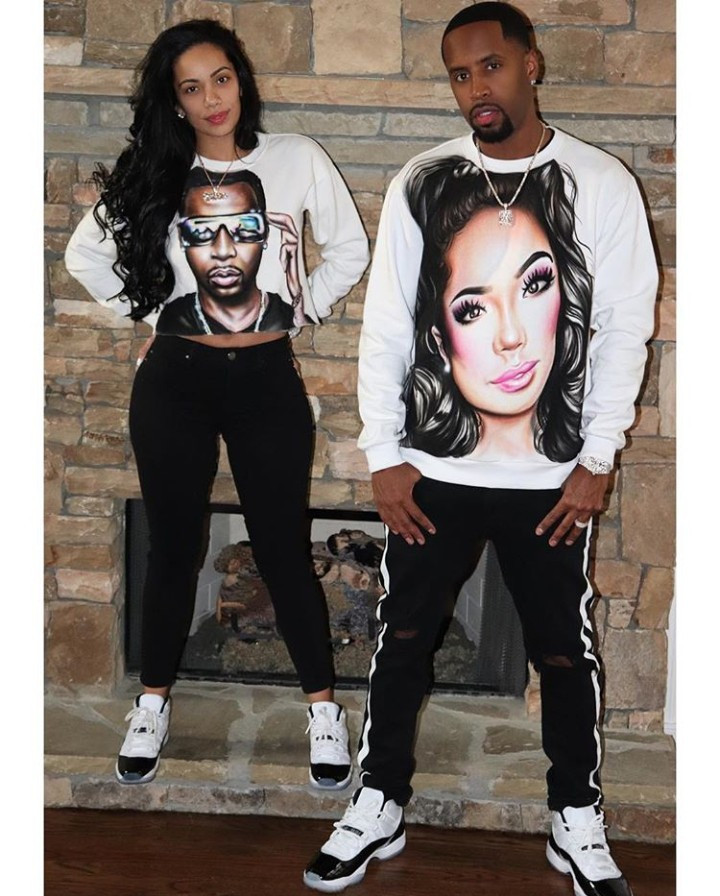 Safaree and Erica Mena step out wearing tops with each other