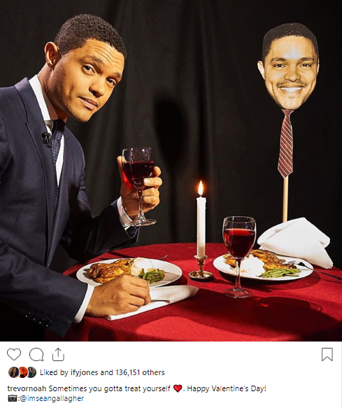 Trevor Noah goes on a romantic Valentine