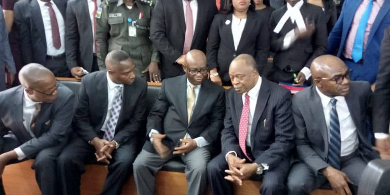Photo/Video of Justice Onnoghen arriving the CCT this morning