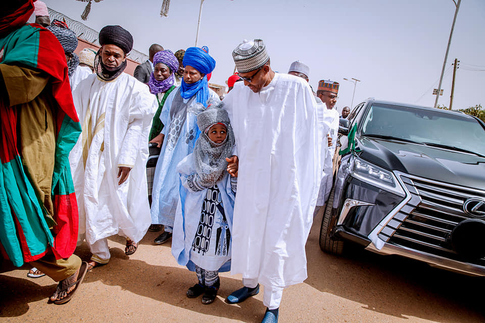 Photos: President?Buhari performs Friday Juma