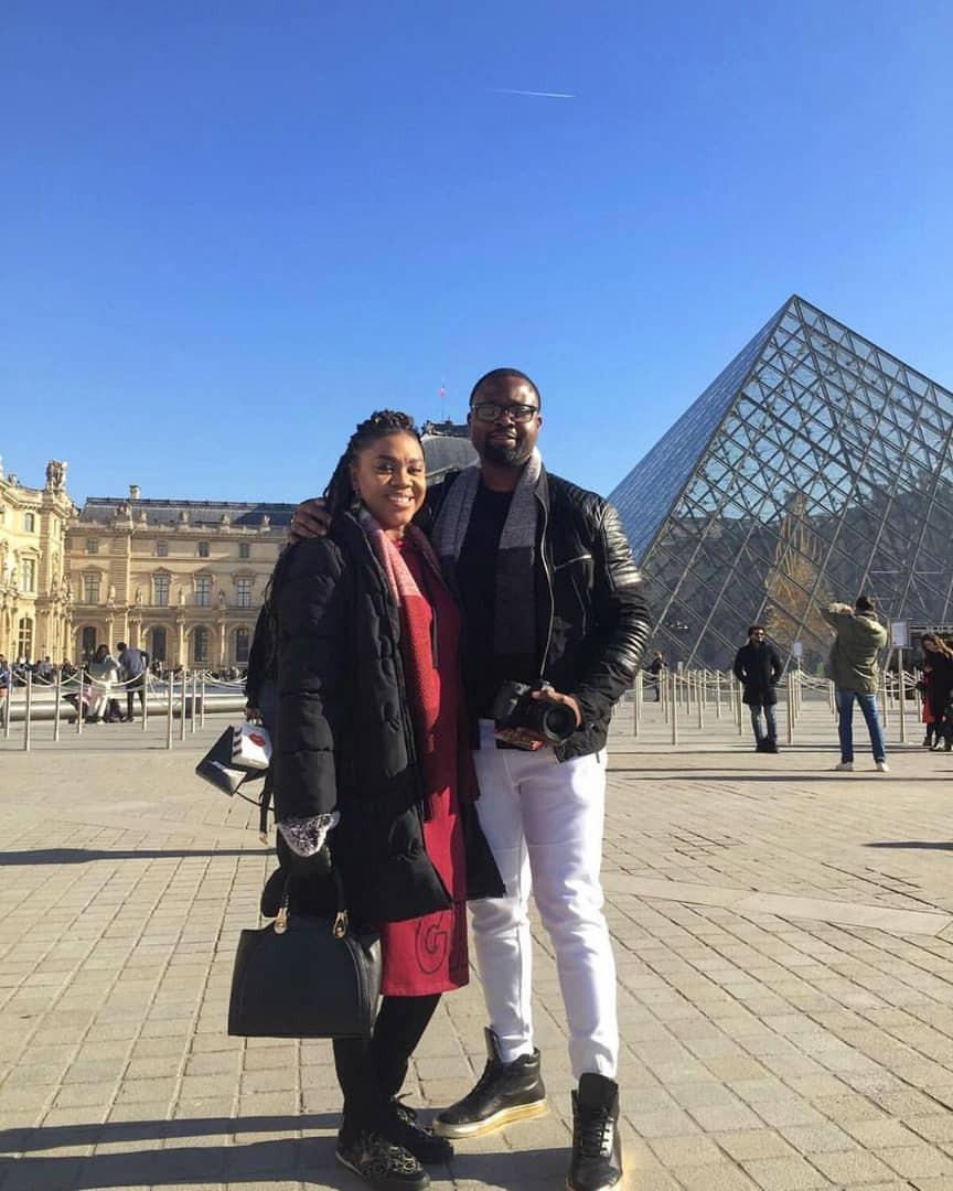 Actress Stella Damasus and her husband, Daniel Ademinokan baecation in Paris(photos)