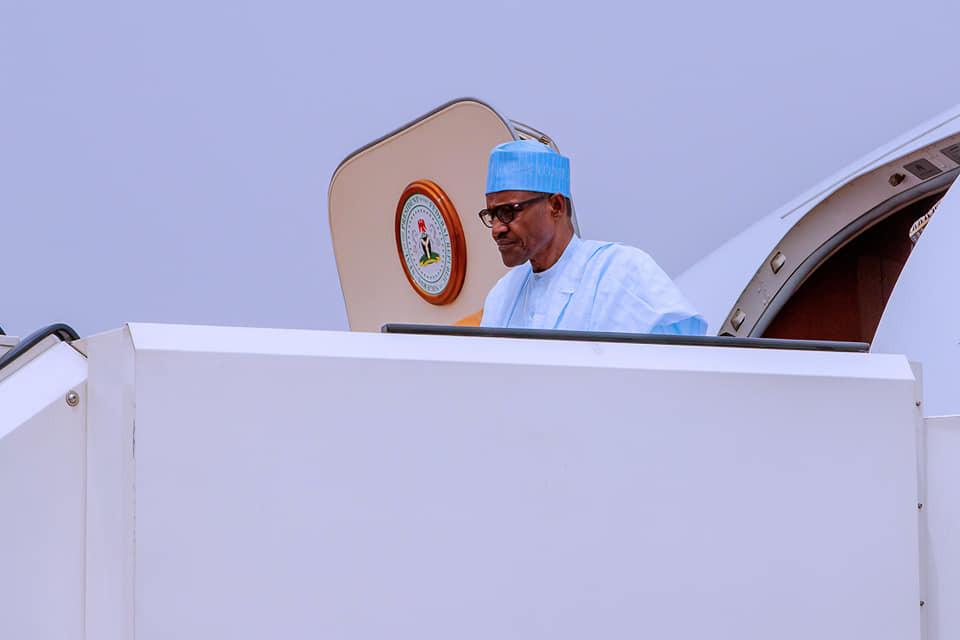 Photos: President Buhari departs Katsina, arrives Abuja following election postponement