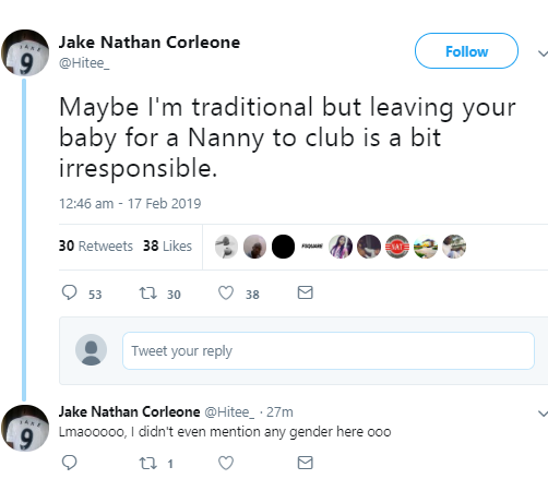 Read this argument about leaving your child with a nanny to go clubbing and tell us which side you
