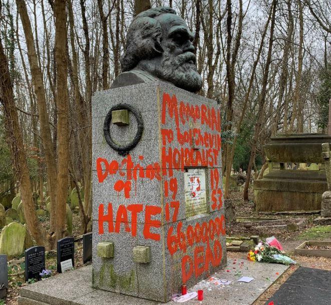 Again, tomb of legendary philosopher Karl Marx vandalized in London