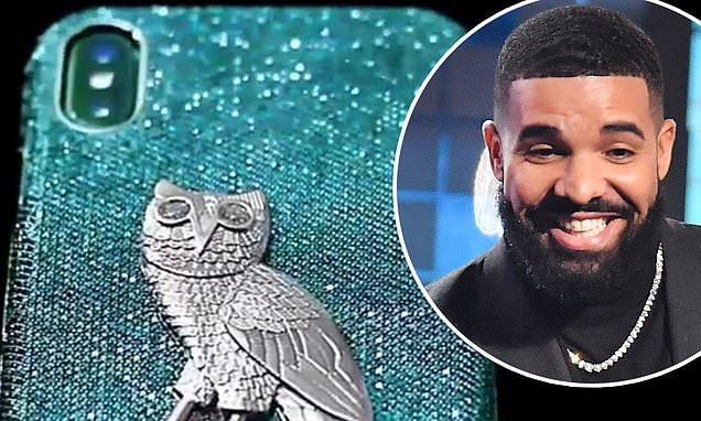 See the iPhone case made of 18-karat gold with blue and white diamonds Drake bought for $400,000 (Photos)