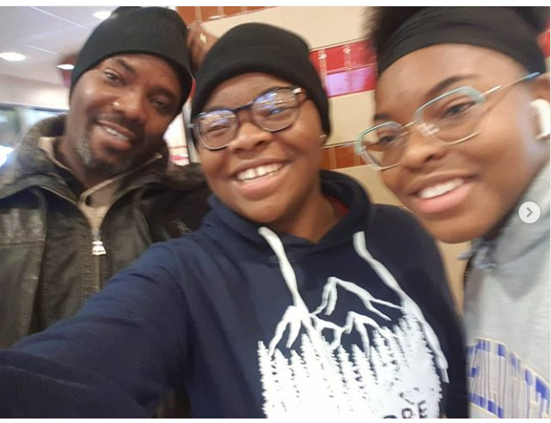 Comedian Okey Bakassi poses with his beautiful daughters in new photos
