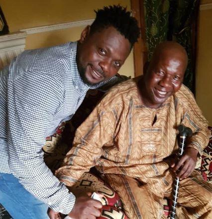 Yoruba actors visit Baba Suwe at home following news of his failing health (Photos)