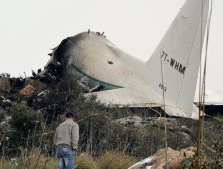 Military plane crash kills two people in Algeria