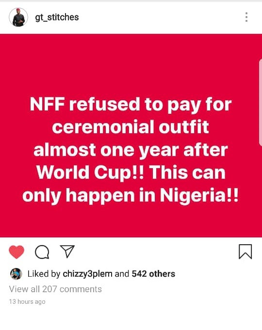 Nigerian Fashion designer who made Super Eagles