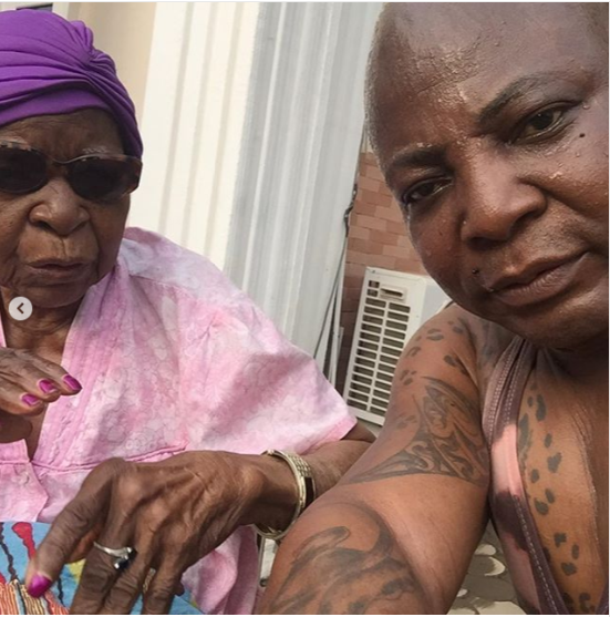 Charly Boy shares lovely photos with his 101-year-old mother  (Photos)