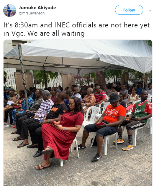 Check out hilarious reaction to the VGC polling unit (screenshots)