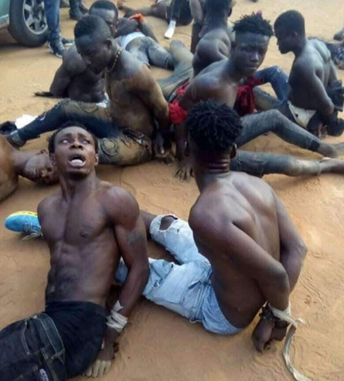 Young men apprehended while allegedly trying to snatch ballot boxes in Abia