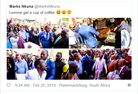 See the moment a South African pastor brought a