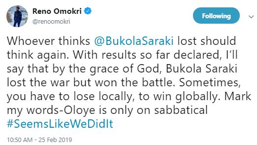 Saraki has only gone on Sabbatical - Reno Omokri