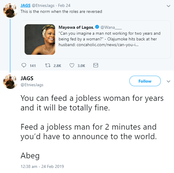 Nigerians on Twitter react to the relationship crisis between viral bread seller turned model Olajumoke and her baby daddy