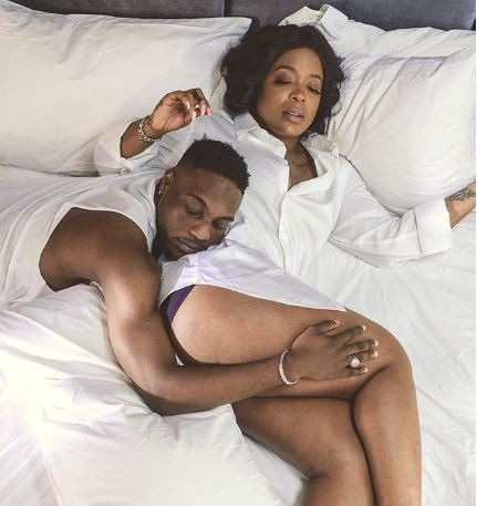 Singer, LAX shares loved up bedroom photo with curvy OAP, Moet Abebe