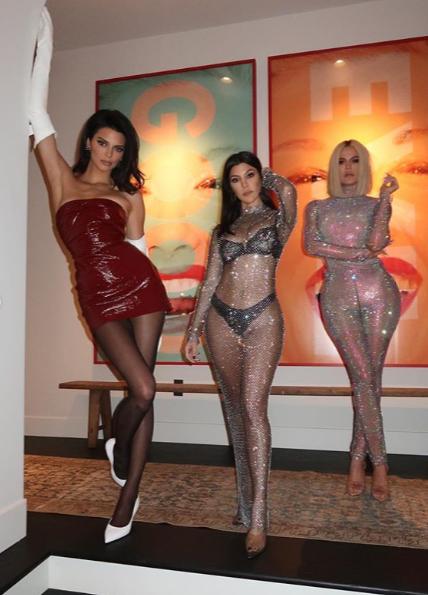Unbothered Khloe Kardashian grabs her sister