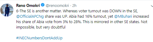 The 2019 elections was rigged- Reno Omokri says